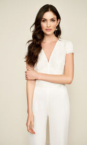 Jumpsuit de novia color ivory - Laila's Dress