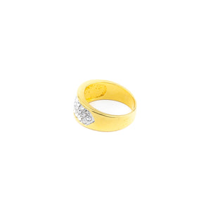 Anillo dorado con brillantes - Laila's Dress