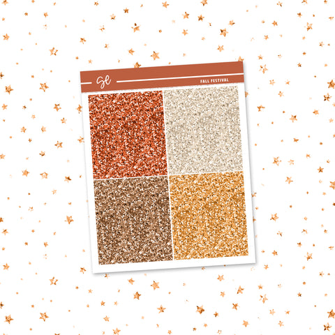 Fall Festival // Glitter Headers