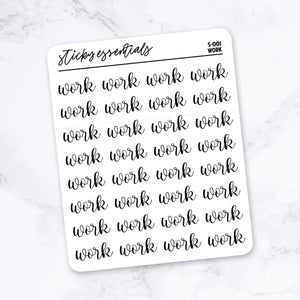 Work // Foiled Stickers - S-001