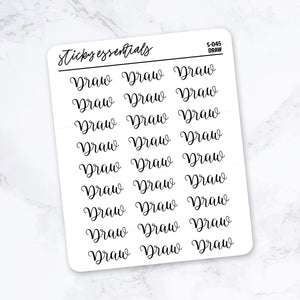 Draw // Foiled Stickers - S-045