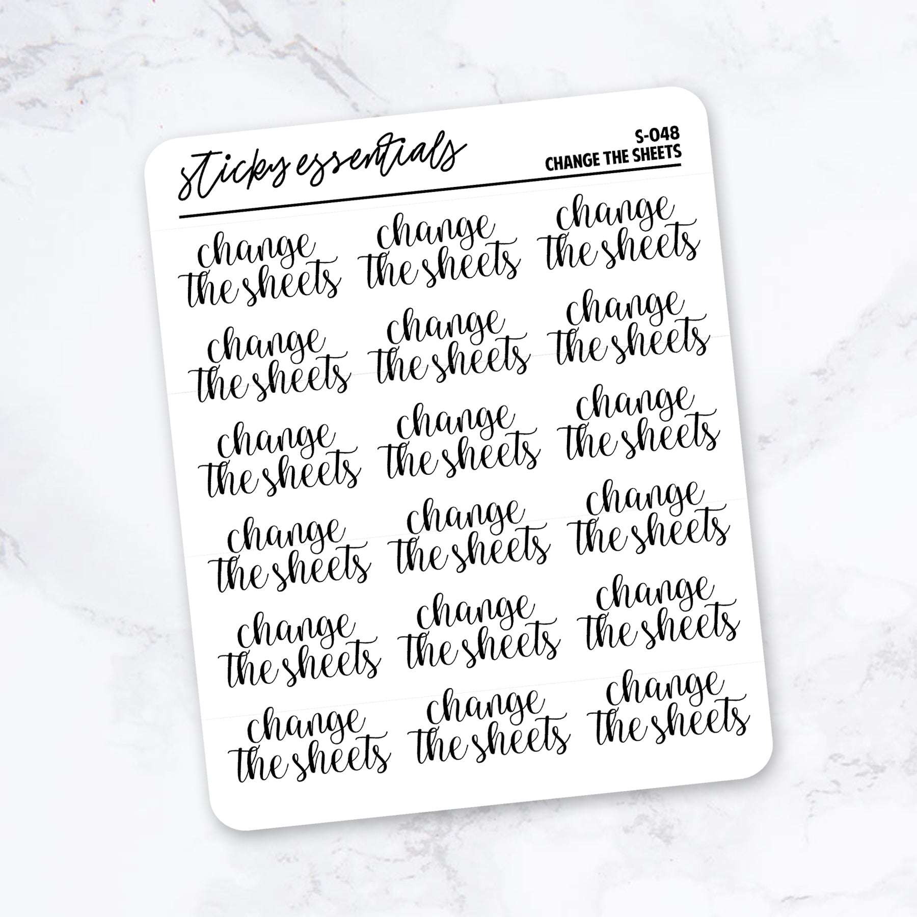 Change the Sheets // Foiled Stickers - S-048