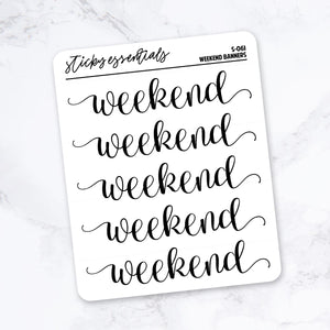 Weekend Banners // Foiled Stickers - S-061