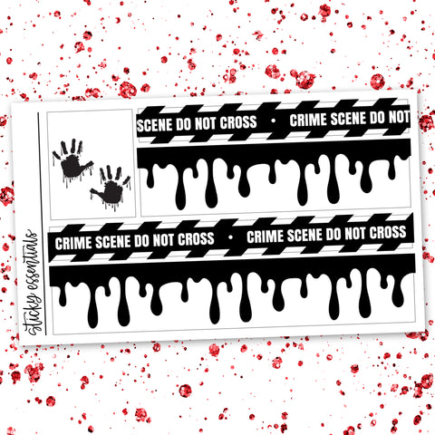 Crime Scene Washi Overlays // Foiled Stickers