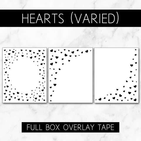Hearts (Varied Roll) // Full Box Overlay Tape