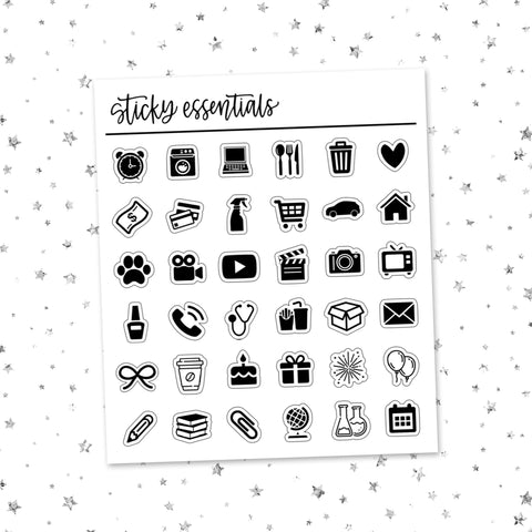 Icons Sampler // Foiled Stickers