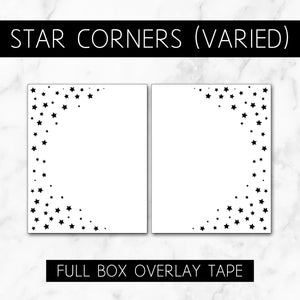 Star Corners (Varied Roll) // Full Box Overlay Tape