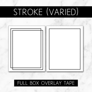 Stroke Boxes (Varied Roll) // Full Box Overlay Tape