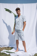 Load image into Gallery viewer, Palmarola Blue Men Short Pyjama Set