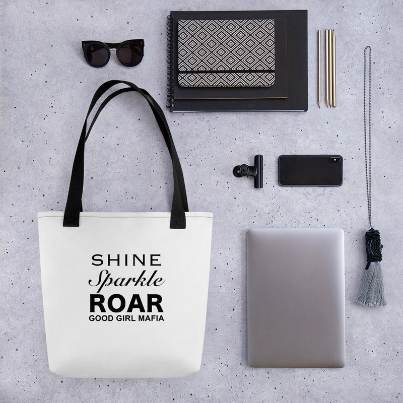 Shine, Sparkle & Roar Tote Bag