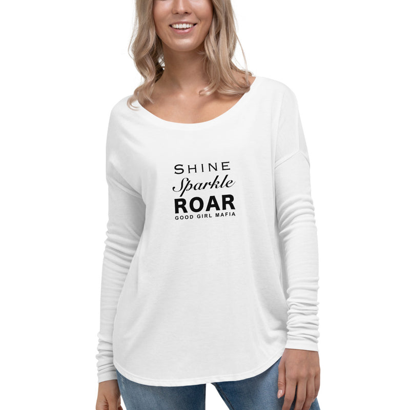 Shine, Sparkle & Roar Ladies' Relaxed Long Sleeve Tee