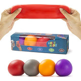 KELZ KIDZ Durable Jumbo Pull and Stretch Stress Squeeze Ball (4 Pack) - Great and Fun Squishy Party Favor Fidget Toy - Excellent Sensory Relief for Tension and Anxiety!