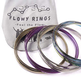KELZ KIDZ Kinetic 3D Arm Flow Rings - Magic Spring Slinky Bracelet - Stainless Steel (12 Pack Dozen Multi Colored) Great Party Favor and School Prize and Toy!