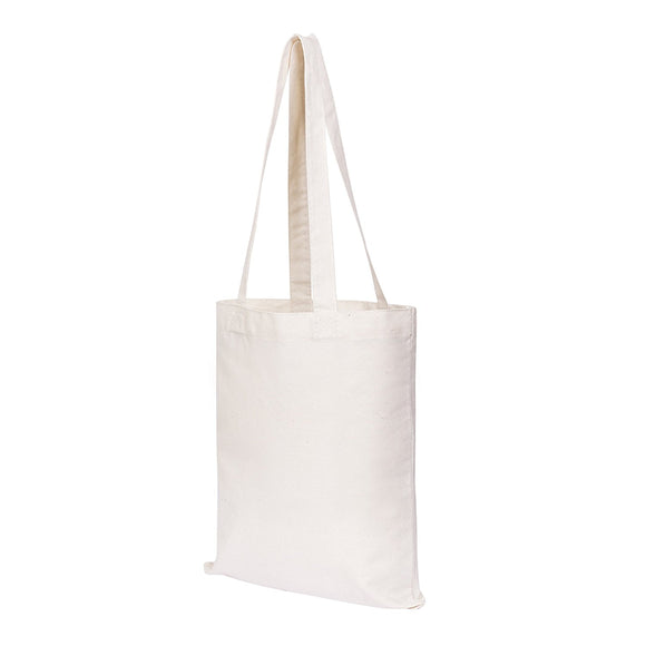 Canvas Craft Tote Bags (12 pack) for Crafts, Gift Bags, Wedding Favors Bags, Welcome Bags, and Goody Bags (14x12 Inches)