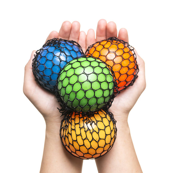 Quality & Durable Mesh Squishy Balls with Exclusive Sewn Mesh! (Case of 120 Balls-10 Packs)