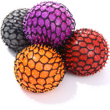 KELZ KIDZ Quality & Durable Medium (2.5 Inch) Spiky Mesh Squishy Balls with Exclusive Sewn Mesh! (CASE OF 10 -12 Pack, 120 Balls)