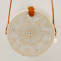 Bella Rattan Bag with Star Pattern