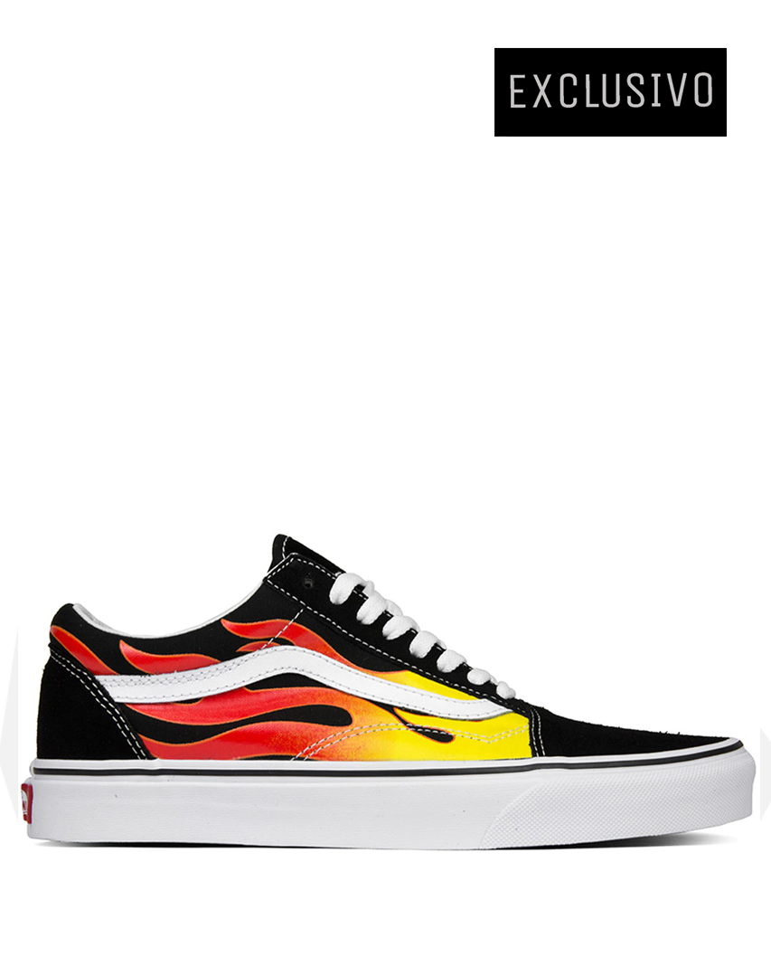 Vans Old Skool Flame Black & White