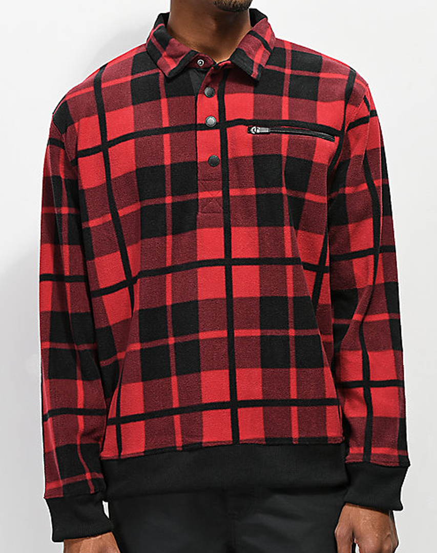 Empyre Scholar Red Plaid Pullover