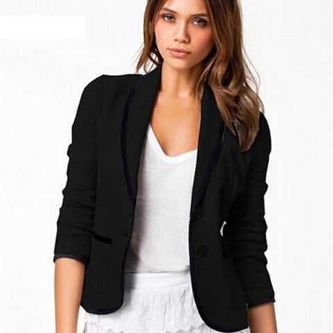 Women Suit Jackets Office Fashion Women OL Long Sleeve Slim Button Business Blazer Jacket Coat Outwear