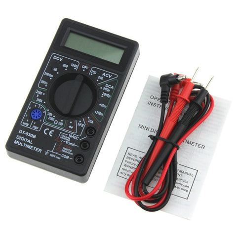 Pocket Digital Multimeter DT-830B Mini 1999 Counts AC/DC Amp Volt Ohm Tester Ammeter Voltmeter Multi Meter