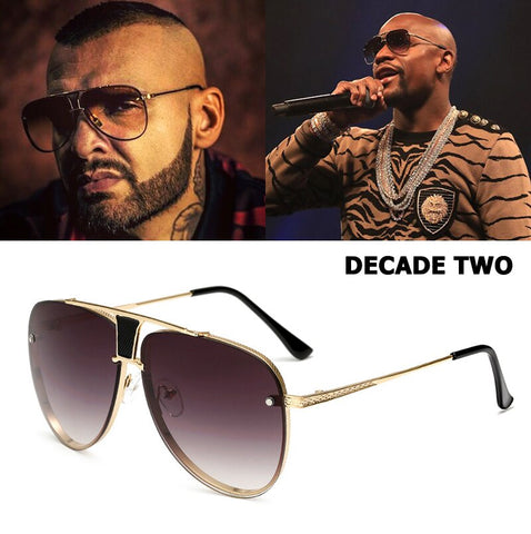 JackJad Fashion 20th Anniversary Edition DECADE TWO Sunglasses Mayweather Style Brand Design Aviation Sun Glasses Oculos De Sol