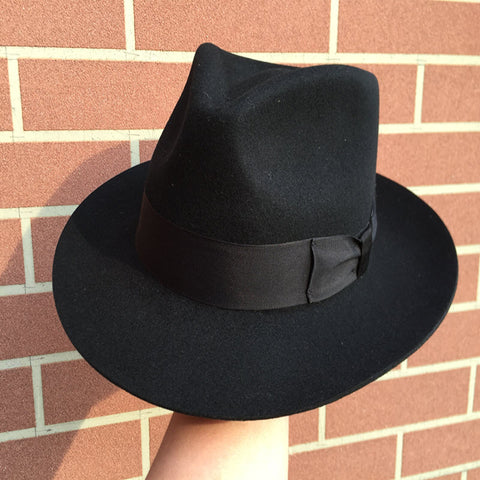 Classic Borsalino Wool Felt Fedora Hat - The Blacklist Fashion