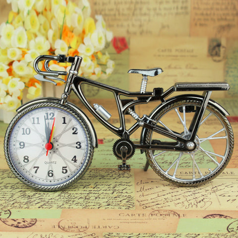 1Pcs Retro bicycle Alarm Clock Cool Style Clock Fashion Personality NZ-035 22*6*13cm Drop Shipping