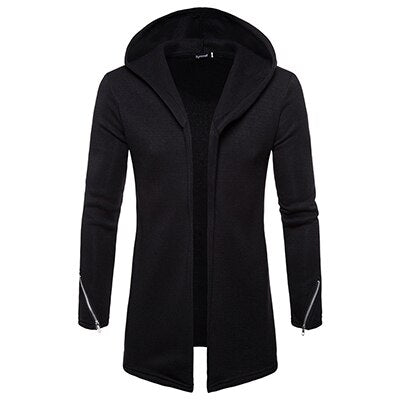 Men's casual Hoodies & Sweatshirts Hooded Trench Coat autumn Fashion