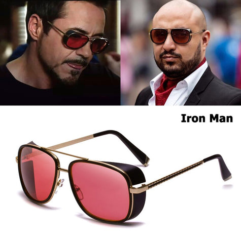 JackJad 2019 Fashion Iron Man 3 Tony Stark Style SteamPunk Sunglasses Men Vintage Classic Punk Sun Glasses Oculos De Sol C-61