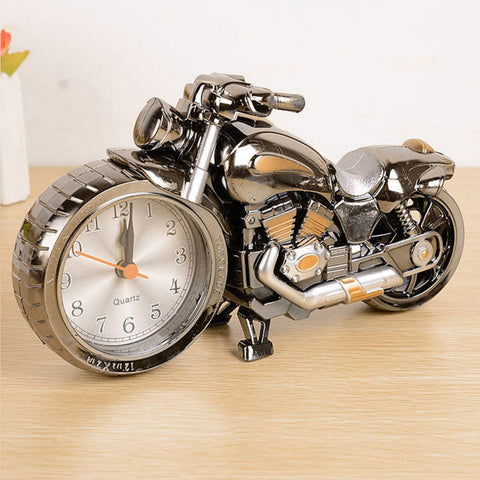 Cool Motorcycle Motorbike Quartz Alarm Clock Creative Desk Table Clock Home Birthday Gift Clock Drop Shipping