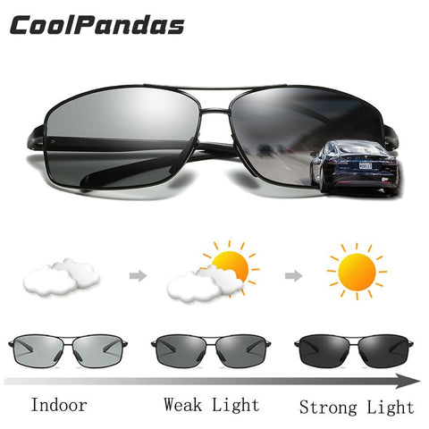 Original Brand HD Photochromic Polarized Men Sunglasses for Drivers Women Male Safety Day and Night Vision Glasses Driving UV400