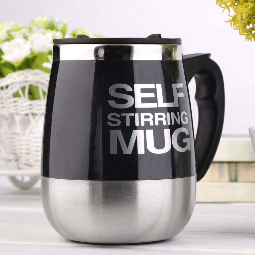 New Arrival 450ml High Quality Stainless Steel Self Stirring Mug Auto Mixing Drink Tea Coffee Cup Home Drop Shipping