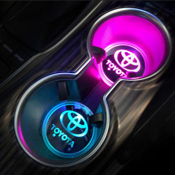 (Only £11.99 TODAY) 7 Colors Led Changing Car Logo Cup Coaster(1PC), TYPE - SEAT