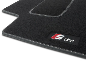 S4HS CAR MATS VELOUR S-LINE LOGO for Audi A3 Car Mats 8P 2003-2013 RHD