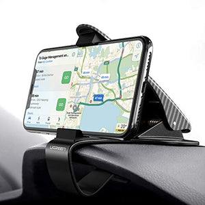 Dashboard Car Phone Holder Adjustable Stand Mount Phone Holder Universal HUD Safe Driving Cradle Stand Compatible for 4-6.5 iPhone 11 Pro/XR/XS Max/X/8/7+/6,Samsung Note 9/S10+/S9/S8/J6/A70/A20e,Huawei P30/P20 Lite