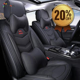 Universal Car Seat Cover Leather & Fabric
