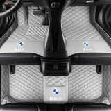 Custom Car Floor Mat in Leather  (Diamond Stitching)