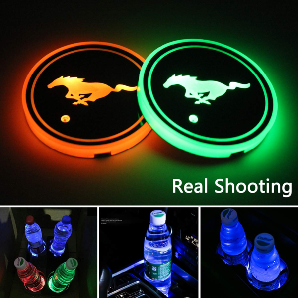 (Only £11.99 TODAY) 7 Colors Led Changing Car Logo Cup Coaster(1PC), TYPE - TOYOTA