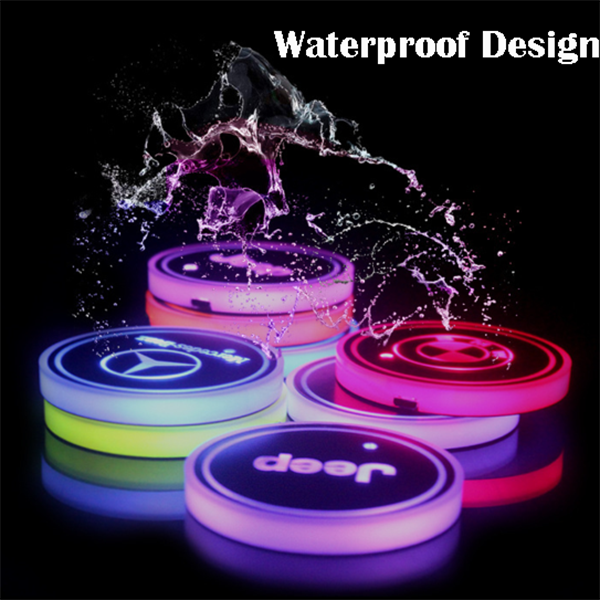 (Only £11.99 TODAY) 7 Colors Led Changing Car Logo Cup Coaster(1PC), TYPE - AMG