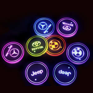 (Only £11.99 TODAY) 7 Colors Led Changing Car Logo Cup Coaster(1PC), TYPE - SKODA