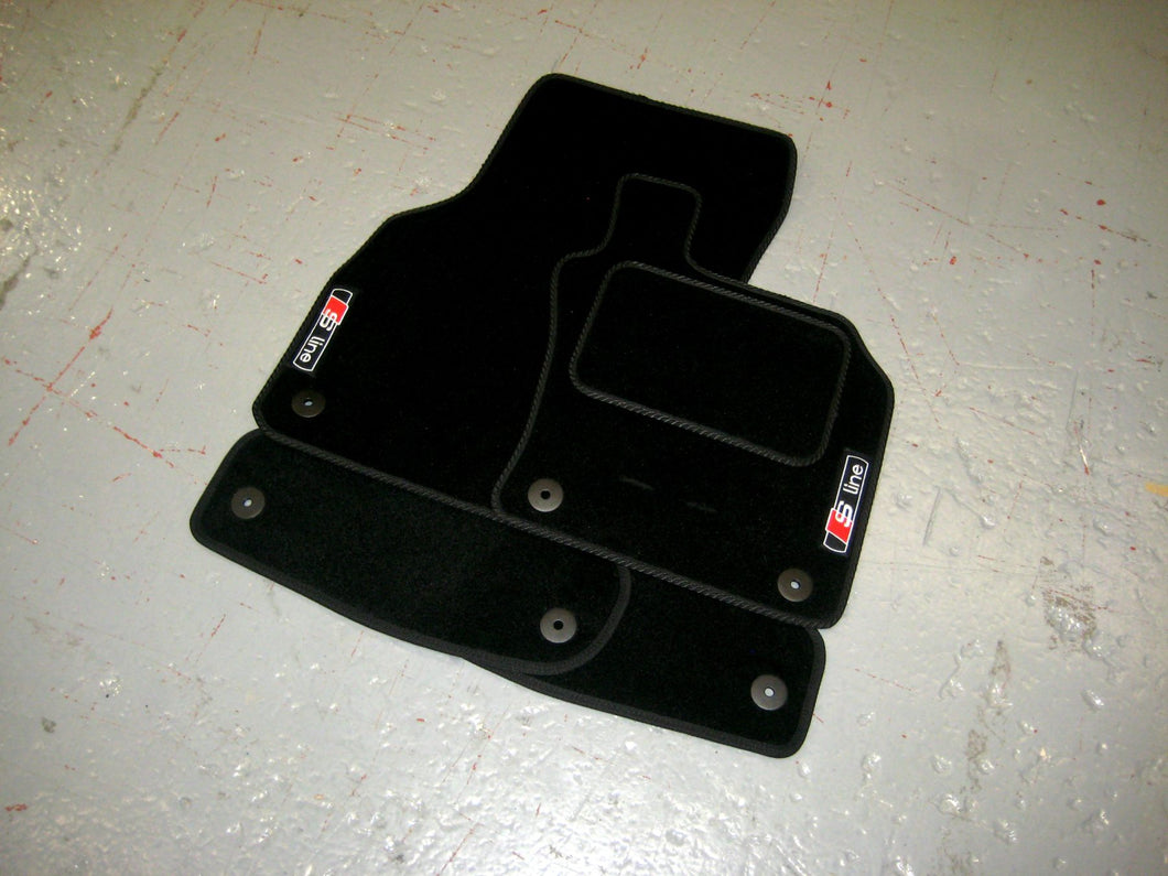 Audi A4 B8 (2008-2015) Tailored Logo Car Mats + S-Line Logos