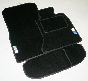 BMW 3 Series E46 Cabriolet (1999-2006) Tailored Logo Car Mats + M Sport Logos