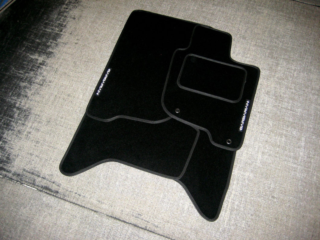 Mitsubishi L200 Double Cab (2006-2015) Tailored Logo Car Mats + Barbarian Logos