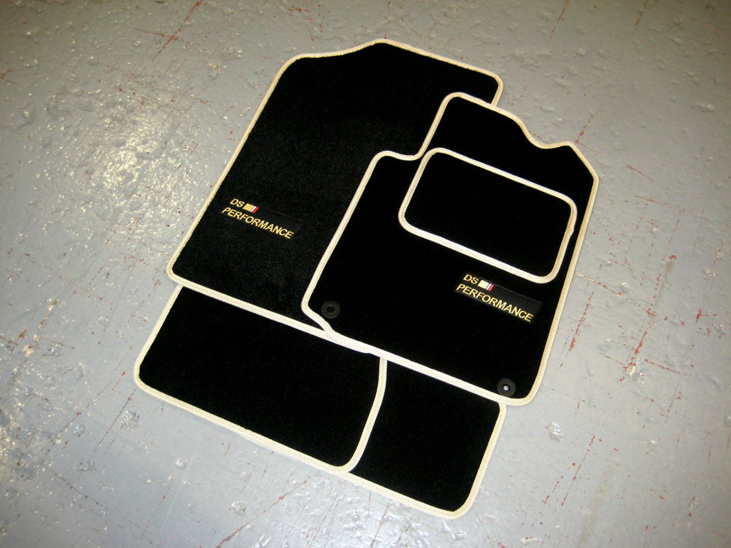 DS 4 (2015-Present) Tailored Logo Car Mats + DS Performance Logos