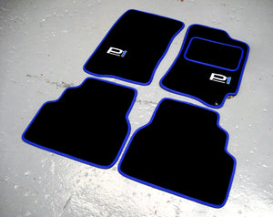 Subaru Impreza P1 (1992-2000) Tailored Logo Car Mats + P1 Logos