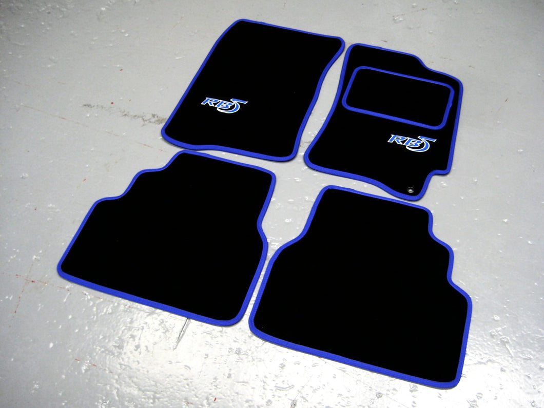 Subaru Impreza RB5 (1992-2000) Tailored Logo Car Mats + RB5 Logos