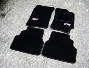 Subaru Impreza (2001-2007) Tailored Logo Car Mats + STI Logos