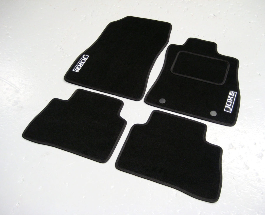 Nissan Juke (2010-Present) Tailored Logo Car Mats + Juke Logos