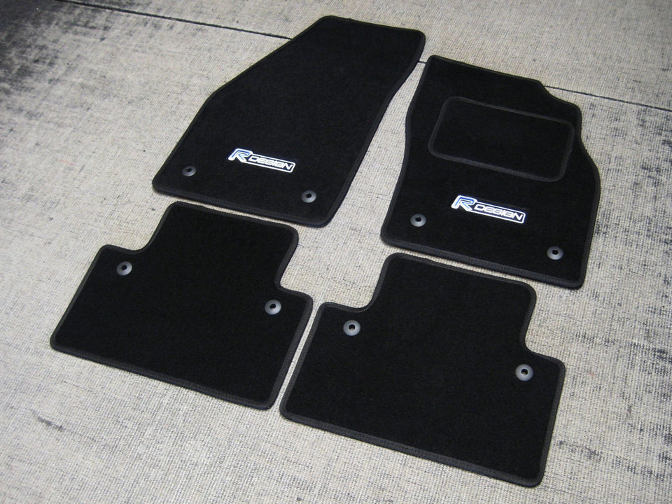 Volvo S40 (2004-2012) Tailored Logo Car Mats + R Design Logos